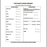 Event Budget Tracker Template PDF Download