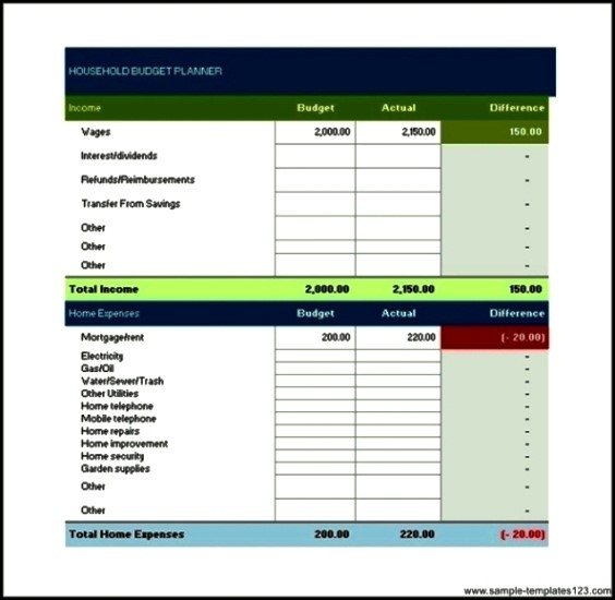 Free household budget templates for mac