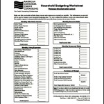 Free Household Monthly Budget Template PDF Format