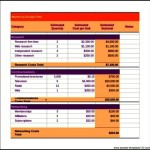 Free Marketing Budget Tracker Template Excel Format