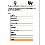 Household budgeting worksheet free