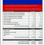 Household Budget Worksheet Template Free Download