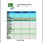 Monthly Budget Tracker Template PDF Download
