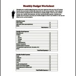 Monthly Budget Worksheet Template PDF