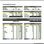 Personal Budget Tracker Template Bi Weekly Excel Format