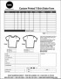 Personalized T-Shirt Order Form Template