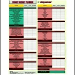 Printable Family Budget Planner Template PDF Download