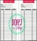 Printable Personal Planner Insert Monthly Budget