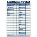 Sample Budget Planning Worksheet Template PDF