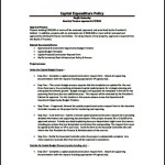 Sample Capital Expenditure Budget Policy PDF Download