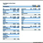 Sample Event Budget Download Excel Format