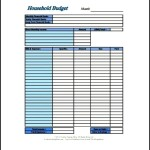 Sample Home Budget Template PDF Format