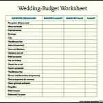 Sample Wedding Budget Template Download