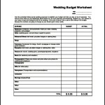 Sample Wedding Worksheet PDF Download