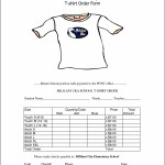 School T-Shirt Order Form Template