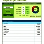 Simple Budget Excel Sheet