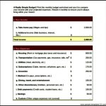 Simple Budget Template worksheet Excel Format Free