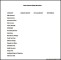 Simple Business Budget Template Word Format Example