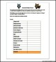 Simple Household Budget Template PDF Format Download