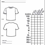 Simple T-Shirt Order Form Template