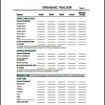 Spending Tracker PDF Format