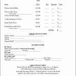 T-Shirt Order Form Template Microsoft Word Sample