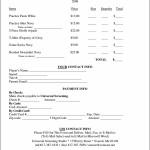 T-Shirt Order Form Template Microsoft Word Sample