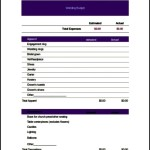 Wedding Budget Spreadsheet Template Excel Example
