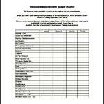 Weekly Budget Planner PDF Format