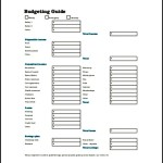 Weekly Budget Planner Template PDF