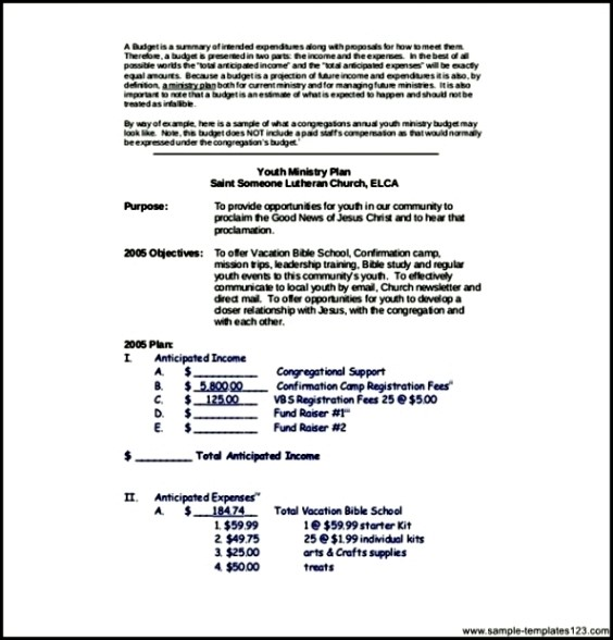youth church budget template pdf file sample templates sample
