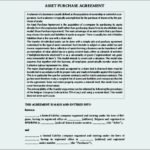 Asset Purchase Agreement Template PDF Format