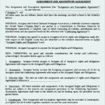 Assumption Assignment Agreement Template