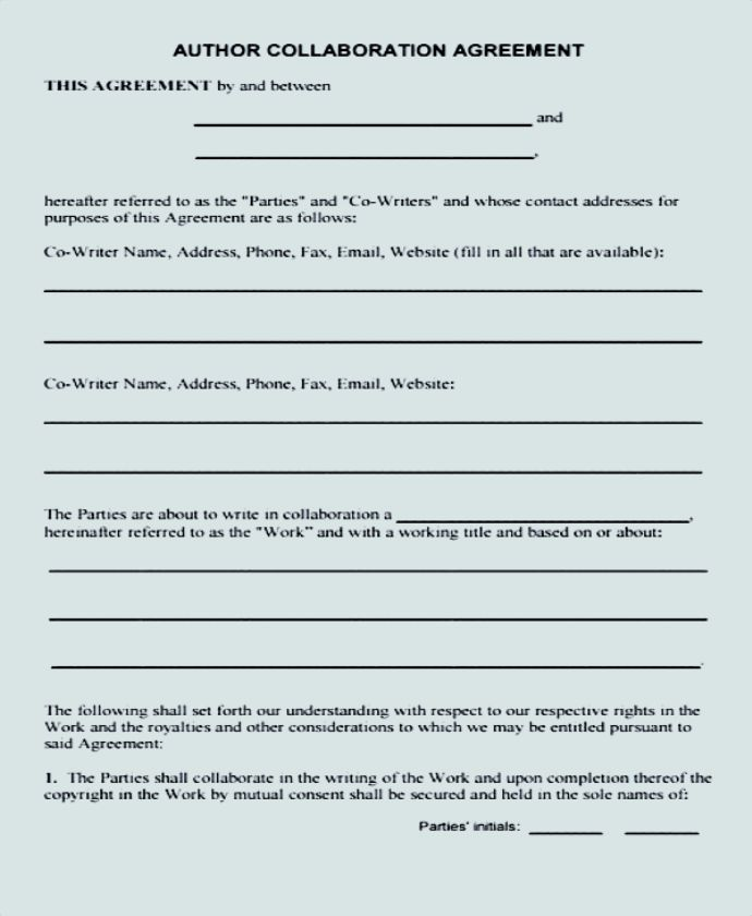 Sample collaboration agreement template what is a collaboration agreement a collaboration agreement is basically an agreement about the sharing of contributions such as terms and conditions or thecheapjerseys Image collections