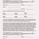 Blank Booth Space Rental Agreement Template