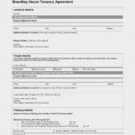 Boarding House Tenancy Agreement Template PDF Format