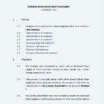 Business Investment Agreement Template PDF Format Free