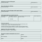 Child Support Parent Agreement Template