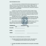 College Roommate Agreement Template