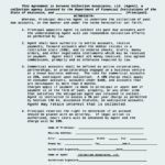 Commercial Agency Agreement Template