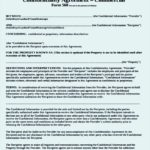 Commercial Confidentiality Agreement Template