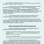 Commercial Construction Agreement Template
