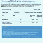 Commercial Lighting Agreement Incentive Template