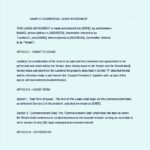 Commercial Rental Agreement Template Word Document