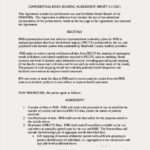 Confidentiality Data Sharing Agreement Template