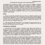 Confidentiality Non-Compete Agreement Template