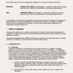 Confidentiality and Invention Agreement Template