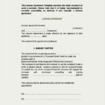 Contract License Agreement Form Word Document