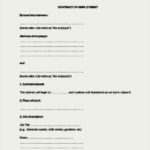 Contract Of Employment Agreement Document Free