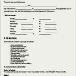 Contract Work Agreement Template
